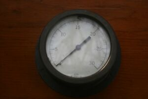 Vintage Antique Acme Pressure Gauge Gage Industrial Steampunk 6 Brass