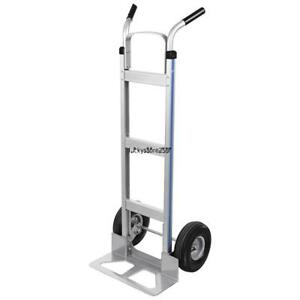 3 in 1 Aluminum Hand Truck Dolly assisted Hand Truck cart W Flat Free Wheels