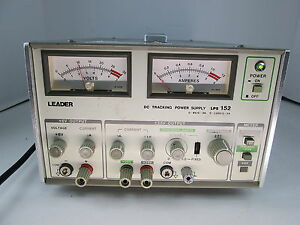 Leader Lps 152 Dc Tracking Power Supply 0 6v 0 5a 0 25 0 1a S n 5030228
