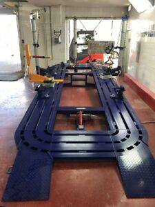 22 Feet Long 7 Ft 3 Wide Auto Body Frame Machine 3 Towers Clamps Tool Cart