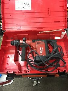 Hilti Te 55 Rotary Hammer Drill With Case Construction Tools Power Masonry