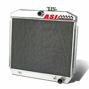 Asi 4 Row Aluminum Radiator For 1955 1957 Chevrolet Bel Air 6cyl Core Supports