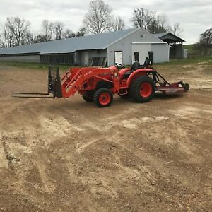 2014 Kubota 3301 Hst 4x4 With La525 Front End Loader
