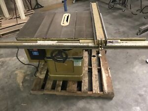 Powermatic Model 66 10 Table Saw 5hp 3phase With Fence Nice Condition