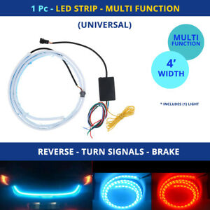 Led Tailgate Strip Lights Reverse Turn Signal Brakes Trunk universal