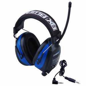 Blue Max Digital Protective Headphones Earmuffs With Am fm Stereo Display