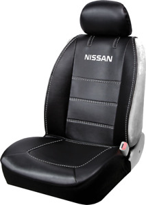New Nissan Logo Premium Synthetic Leather Sideless Car Truck Front Seat Cover