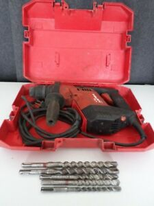 Hilti Te5 Electric Rotary Hammer Drill Corded W Case Tested Lot Ba6