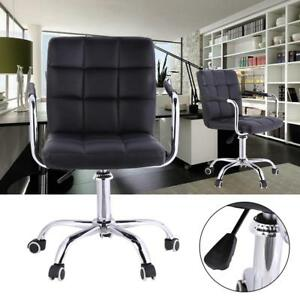 Adjustable Luxury Office Computer Desk Chair Pu Leather High Back Swivel W Case