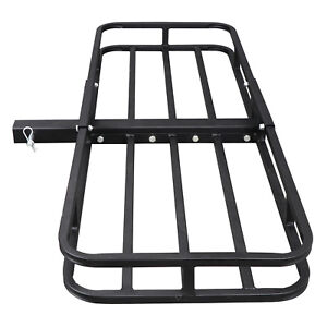 Hitch Mount Cargo 53 x19 Carrier Basket Rack Hauler Luggage 2 Hitch Receiver