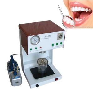 New Dental Lab Vacuum Mixer Mixing Machine With Outer Pump Denshine 2018