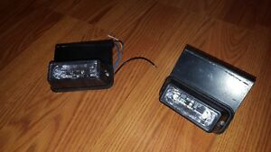 Pair Of Whelen Lin3 Led Lights b Model Smartled Perimeter Surface Mount Lights