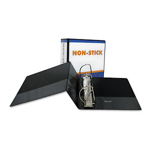 Samsill Nonstick D ring View Binder 11 X 8 1 2 5 Inches Capacity Black