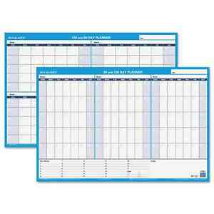 At a glance 90 120 day Undated Horizontal Erasable Wall Planner 36 X 24