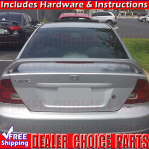 2001 2002 2003 2004 2005 Honda Civic 2d Factory Style Spoiler W led Unpainted
