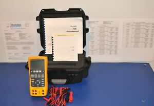 Fluke 726 Precision Multifunction Process Calibrator Nist Calibrated With Data