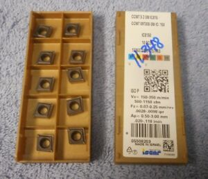 Iscar Carbide Inserts Ccmt 09t308 sm Pack Of 10 Grade Ic8150