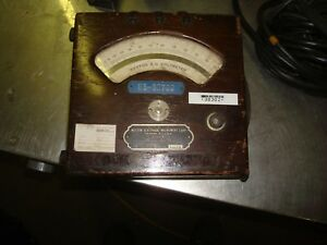 Rare Vintage Meter Weston Electrical Instruments Model 155 With Leads