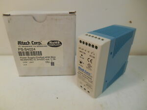 Nib Altech Ps s4024 Power Supply Din Rail 40w Slim 85 264 Vac In 24vdc Out