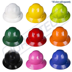 Hard Hat Full Brim Jorestech 4 Point Ratchet Suspension Construction Safety Ansi