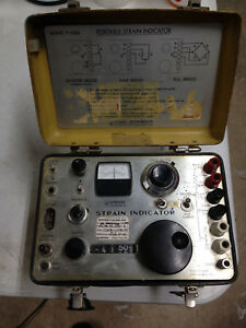 Vishay P350a Strain Indicator For Parts Or Repair