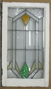 Large Old English Leaded Stained Glass Window Geometric Abstract 20 X 35 75