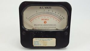 Vintage Weston 861 Decibels Ac Volts 1 10 0 20 Ballantine Panel Mount Meter 3