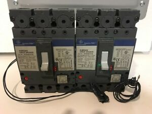 Ge Seha36at0100 Circuit Breaker 100 Amp 600 Vac 3 Pole With 100a Rating Plug
