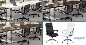 20 Foot Conference Table With Metal Legs And 18 Chairs Set White And 5 Colors