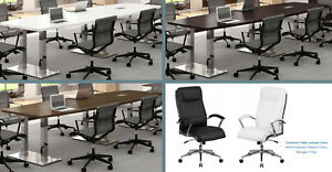 8 Foot Conference Table With Metal Legs And 7 Chairs Set Many Colors And White