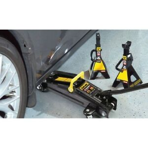 Portable Car Lift Garage Hydraulic Floor Jack 2 Ton With Stands New