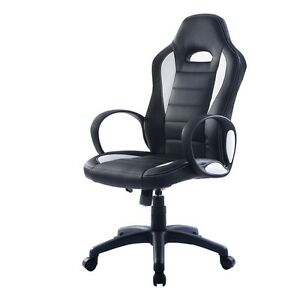Home Office Pu Leather High Back Executive Race Car Style Bucket Seat Chair Us