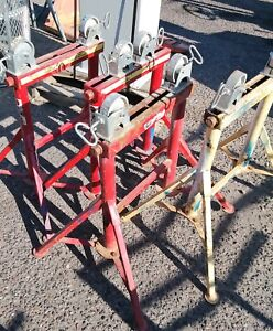 4 B b Sumner Adjust a roll Roller Head Pipe Stand Metal Wheel 1 2 To 36 2500