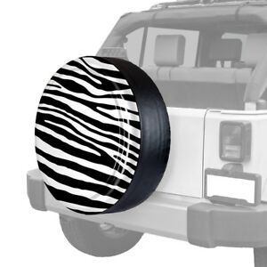 Boomerang 32 Rigid Series Zebra Black White Print Spare Tire Cover