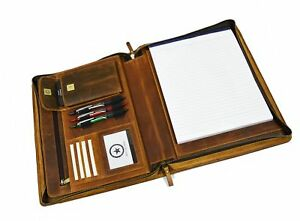 Premium Genuine Leather Business Portfolio And Professional Organizer With A