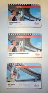 Leica Total Station Tps1200 Rx1200 User Field Manuals set Of 3 Surveying