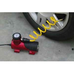Air Compressor 12v Tire Inflator Toys Sports Car Auto Electric Pump Mini Red