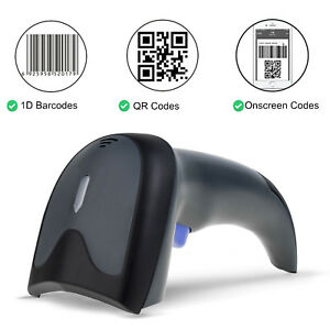2d Wireless Barcode Scanner Bar Code Reader For Laptops pc android apple Payment
