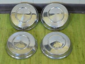 63 64 65 Plymouth Dog Dish Hub Caps 10 Set Of 4 Mopar Hubcaps 1963 1964 1965