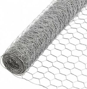 Chicken Wire Fencing 3 Ft X 50 Ft 1 Inch Mesh Galvanized Steel Poultry Netting