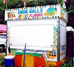 Shaved Ice Lemonade Concession Trailer carnival amusement food drink snow Ball