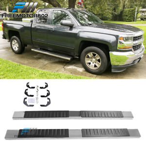 Fits 07 18 Chevy Silverado Sierra 1500 Ext Cab Nerf Bar Running Boards Chrome 6