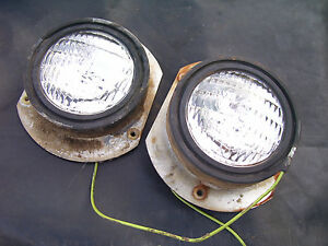 Vintage Ford 6000 Commander Diesel Tractor head Lights Both Work 1964