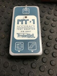 Vintage Prob Well Mt 1 Accuracy Test Adapter Pw 8967