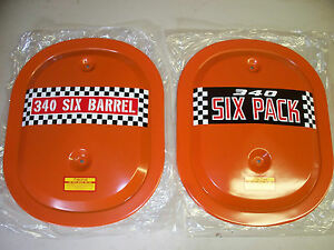 Mopar Dodge Plymouth 340 N O S Original Six Pack Air Cleaner Lid Only Get 1 Lid