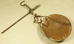 Greece Vintage Or Antique Steelyard Beam Balance Hanging Scale With Plate