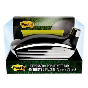 Post it Pop up Note Dispenser Golf Themed For 3 In X 3 In Notes 1 Dispenser