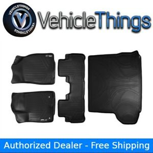All Weather Floor Mats 2 Rows And Cargo Liner Behind 2nd Row Highlander Black