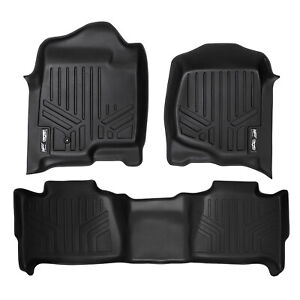 Maxfloormat All Weather Custom Fit Floor Mats Liner Full Set For Chevy Suv Black