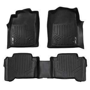 Maxfloormat All Weather Custom Fit Floor Mats Liner For Tacoma Double Cab Black